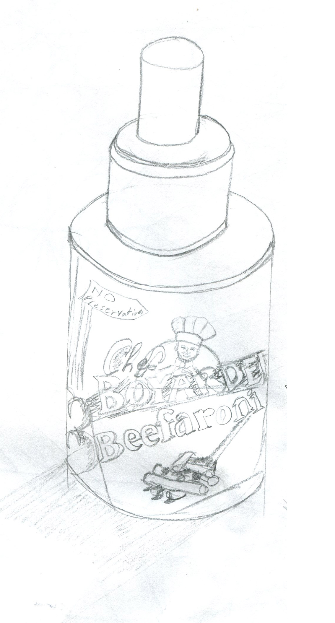 Day 10: First Attempt at drawing Canned goods.