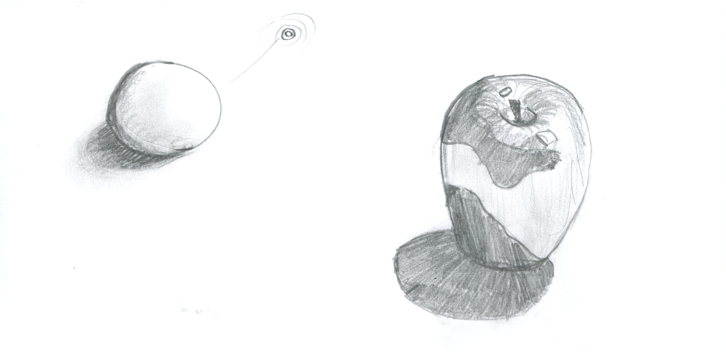 How to draw a Sphere & an Apple.